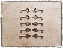 Metall Charms-Schlüssel Silber-265
