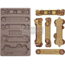 Re-Design with Prima Marketing-Silikonform/Steampunk Plates