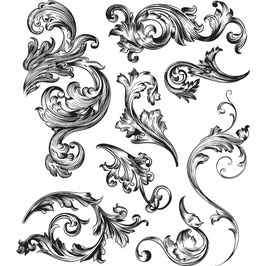 Stampers Anonymous by Tim Holtz-Stempel/Scrollwork