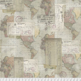 Free Spirit-Memoranda III-by Tim Holtz/World Map