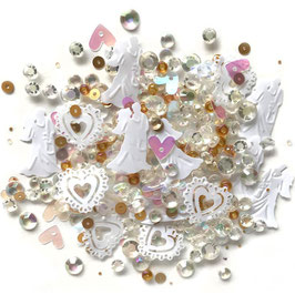 Buttons Galore-Sparkletz Shaker Elements/Just Married 10gr.