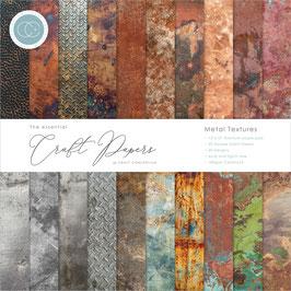 "Craft Consortium-Paper Pad/Metal Textures 6x6"""