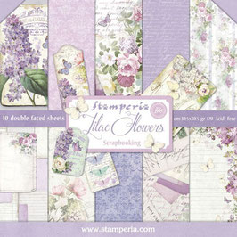 Stamperia-Scrapbooking Papier/Lilac Flowers 12x12""