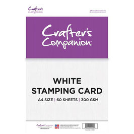 Crafter's Companion-Stamping Card/Weiss A4 Pack
