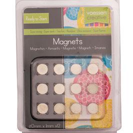 Vaessen Creative Magneten/Superstrong 12mm Ø 12 Stück