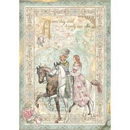 Stamperia Reispapier A4-Sleeping Beauty DFSA4575