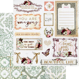 Prima Marketing-Pretty Mosaic/Beautiful Life 12x12""