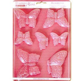 Stamperia-Soft Maxi Mould/Butterflies A4