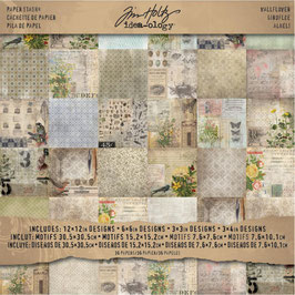 Tim Holtz-Scrapbooking Papier/Wallflower 12x12""