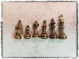 Metall Charms-Schachfiguren Bronce 1/140