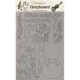Stamperia Greyboard-Karton Stanzteile/Passion KLSPDA423