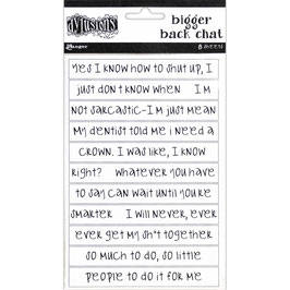 Dylusions by Ranger-Bigger Back Chat Stickers/White