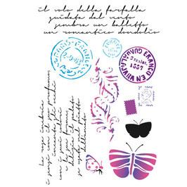 Stamperia-Stencil/Postales KSG289