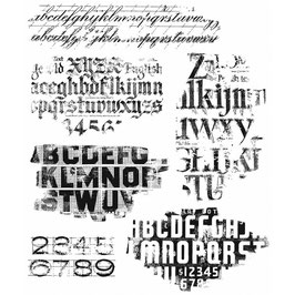 Stampers Anonymous by Tim Holtz-Stempel/Faded Tipe