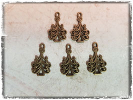 Metall Charms-Weihnachtsbaum Bronce 1/131