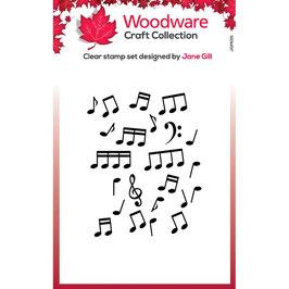 Woodware Stempel-Mini Music background