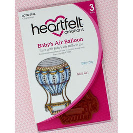 Heartfelt Creations-Stempel Set/Baby's Air Balloon