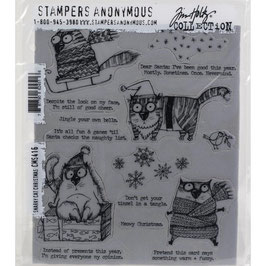 Stampers Anonymous by Tim Holtz-Stempel/Snarky Cat Christmas CMS416