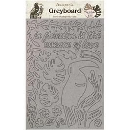 Stamperia Greyboard-Karton Stanzteile/Amazonia KLSPDA421
