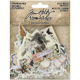 Idea-Ology by Tim Holtz/Ephemera Pack-Field Notes Snippets