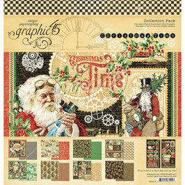 Graphic 45-Paper Pad Christmas Time (1) 12x12""