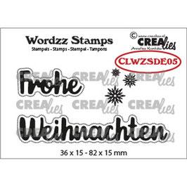 Crealies-Clear Stamps-Wordzz-Frohe Weihnachten