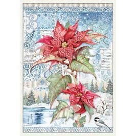 Stamperia Reispapier A3-Winter Tales DFSA3072