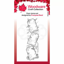 Woodware-Stempel/Three tags