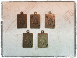 Metall Charms-As Bronce 1/136