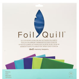 "We R-Foil Quill Folienblätter 12x12""/Peacock"