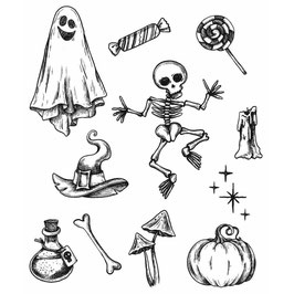 Stampers Anonymous by Tim Holtz-Stempel/Halloween Doodles CMS437