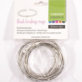 Vaessen Creative-Buchringe/silver 75mm
