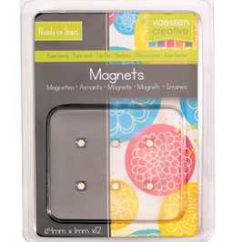 Vaessen Creative Magneten/Superstrong 4mm Ø 12 Stück