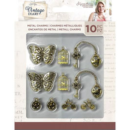 Crafter's Companion Vintage Diary-Metal Charms