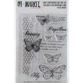 49 and Market-Stempel/Butterflies are free