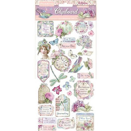 Stamperia Chipboard/Hortensia