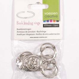 Vaessen Creative-Buchringe/silver 20mm