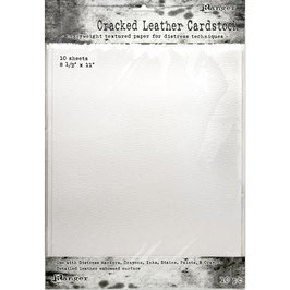 "Distress-Cracked Leather Cardstock 8.5""x11"""