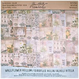 """Tim Holtz-Velinpapier/Wallflower 12x12"""""""