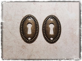 Metall Charms-Schlüsselloch Bronce-183