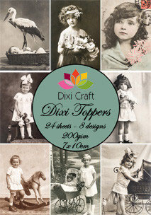 Dixi Craft-Dixi Toppers/Vintage Fotos 2