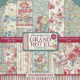 """Stamperia-Paper Pad Grand Hotel 12x12"""""""