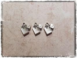 Vintage Metall Charms-silber/Teebeutel