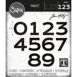 Sizzix by Tim Holtz Thinlits-Stanzform/Countdown