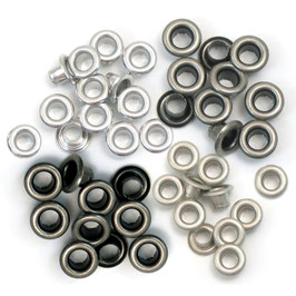 We R Memory Keepers Eyelets-Ösen klein/Cool Metal