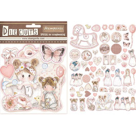 Stamperia-Die Cuts Little Girl