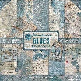 Stamperia-Paper Pad Blues 12x12""