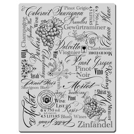 Stampendous! Stempel- Wine Labels