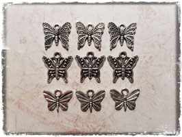 Metall Charms-Schmetterling Silber-237