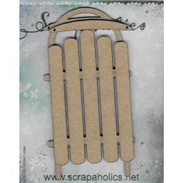 Scrapaholic-Laser Cut Chipboard-Layered Sled